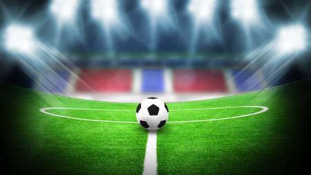 illustratie van voetbalstadion voor sport achtergrond