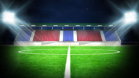 illustration of soccer stadium for sport background