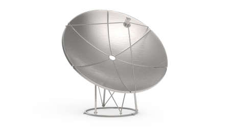 illustration of satellite dish on white background. illustration