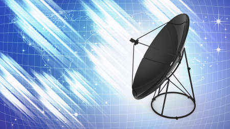 illustration of satellite dish for telecommunication background illustration