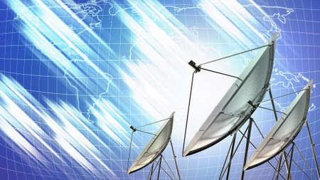 illustration of satellite dish for telecommunication background illustration
