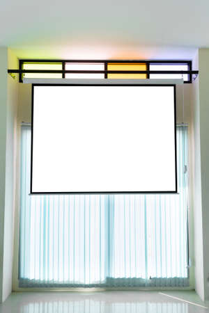 Empty projector wall for presentation background photo