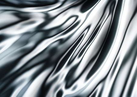 satiny: abstract texture of silver silk for fabric cloth background