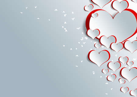 craft background: Heart shape on paper craft for texture background in valentine day