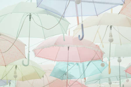 Umbrella pattern with pastel color tone