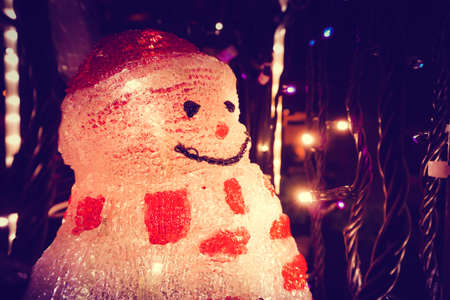 Decoration of snowman statue in Christmas day