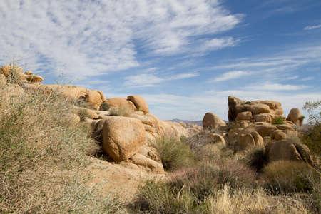 Rocks and Blue Sky in Joshua Tree National Park