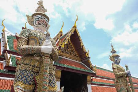 Giant at Wat pra kaew Grand palace  Bangkok Thailand. Reklamní fotografie