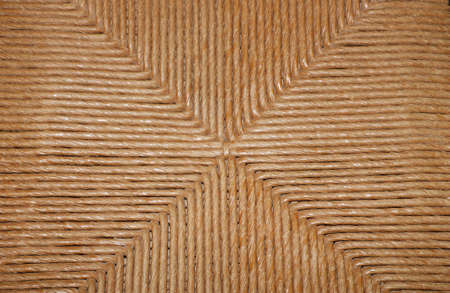 WICKER AND RATTAN WOVEN FROM ANTIQUE AMERICAN CHAIR - CLOSE UP AND SELECTED FOCUS