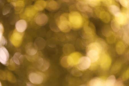 Beautiful golden bokeh light.