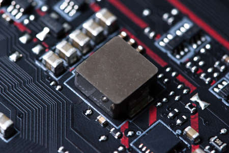 microprocessor: Electronic chip Stock Photo
