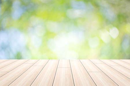 Szene Holz Hintergrund Bokeh Standard-Bild