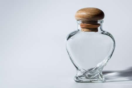 Glass Jar Heart Reklamní fotografie