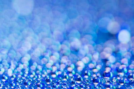 Bokeh background blue water droplets