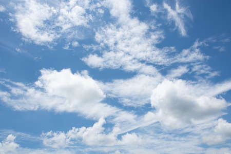 Cloud Background View and Blue Sky