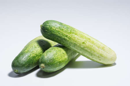 Cucumber white background