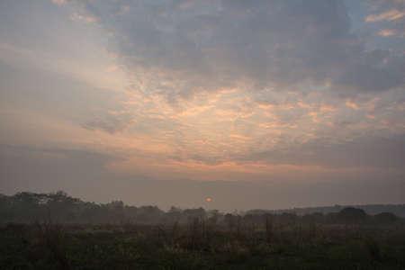 Sky and sunshine in the morning 版權商用圖片