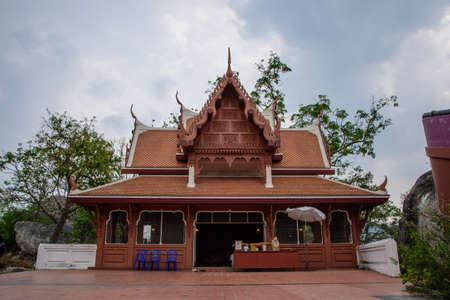 Thai temple building with nature