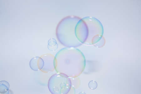 Bubbles colorful background white