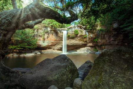 Natural Haew Suwat Waterfall Reklamní fotografie