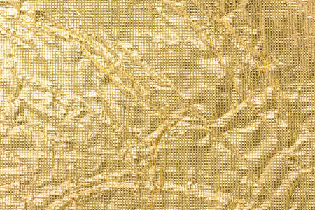 Background of wrinkled golden paper