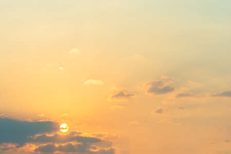 Sky background and clouds during sunset