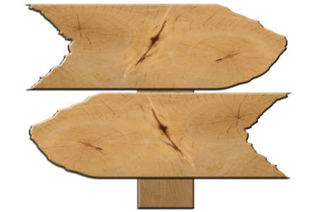 Sign wood White background