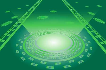 digital  communication concept for technology background