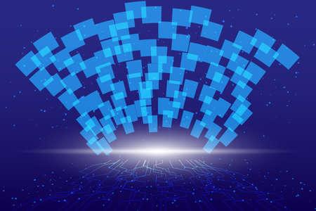 Abstract technology background Hi tech communication  digital concept