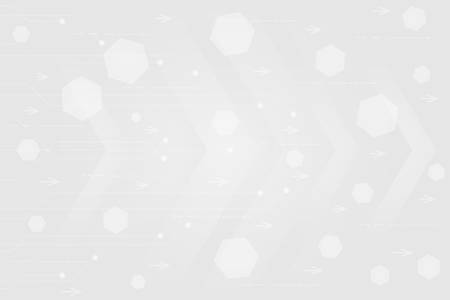 Gray color and white color Abstract technology Circles background