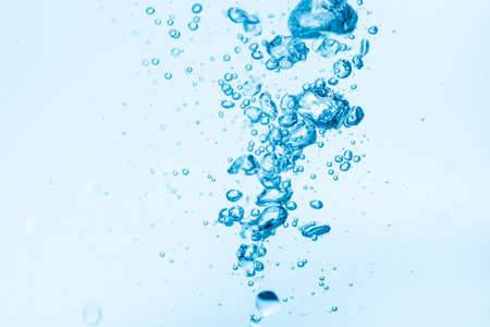 Bubbles in blue water background.