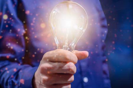 Business people creative idea concept for light bulbs Stock Photo