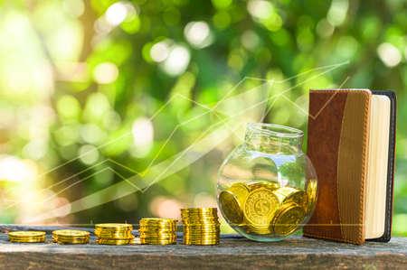 Financial business growth bar chart symbol
