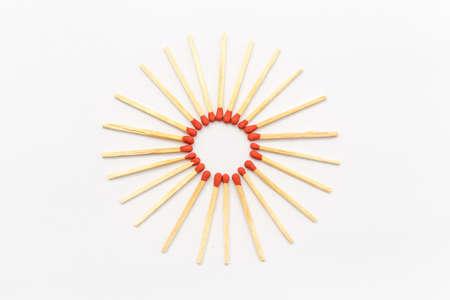 matchstick: Matchstick in star form