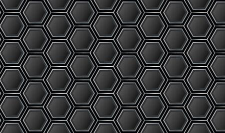 Minimal Hexagonal Black and Gray Pattern Background Vector Vektorgrafik