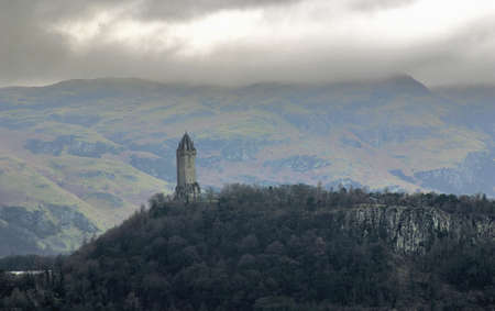 wallace: The Wallace Monument at Stirling in Scotland