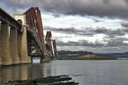 Firth of Forth Rail Bridge from South Queensferry photo