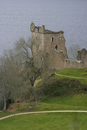 loch ness: Urquhart Castle and Loch Ness Stock Photo