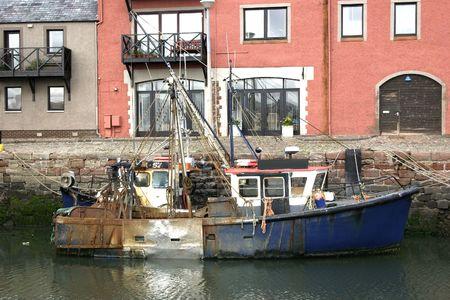 wheelhouse: Fishing Boat  Stock Photo