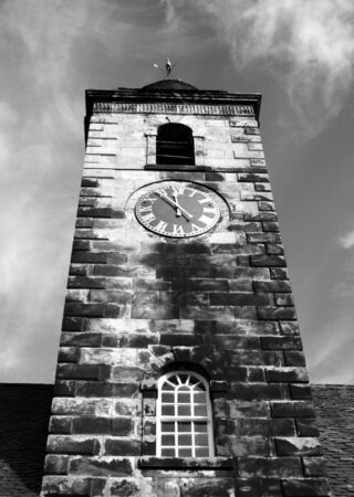 fife: Clock Tower at Culross, Fife, Scotland