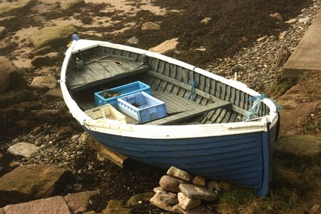 beached: Beached rowing boat at Berwick upon Tweed