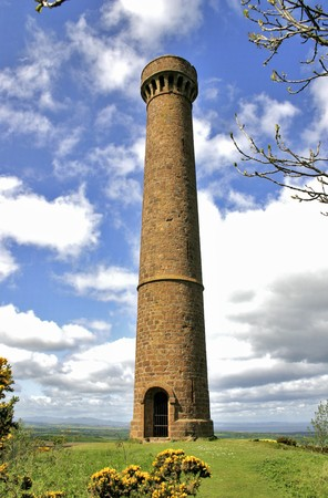 lothian: This tower on Byres Hill was built in 1824 in memory of Sir John Hope, 4th Earl of Hopetoun 1765 - 1823