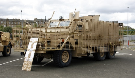ballistic: Mastiff Protected Patrol Vehicle (PPV).  Mastiff has three variants - Troop Carrier, Battlefield Ambulance and Command Post. Used by British Army