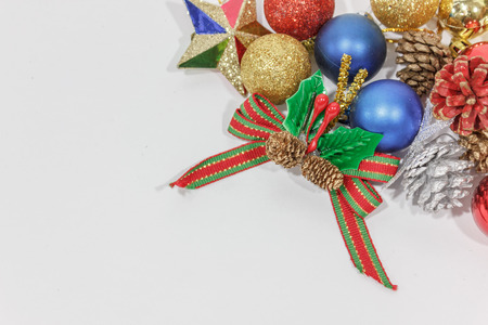 decorate: decorate christmas tree, red, blue and gold decorate Stock Photo