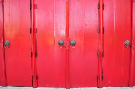 Large red door photo
