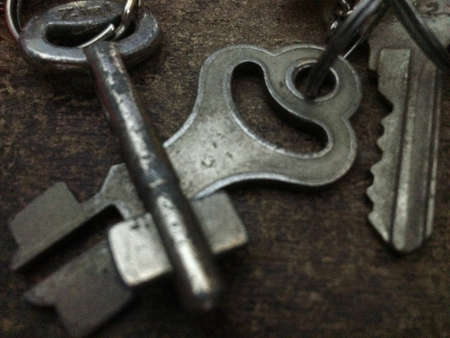 iron: The Old Key Stock Photo
