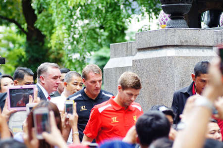 Bangkok, Thailand - July 26, 2013 Brendan Rodgers and Steven Gerrard   in Siriraj Hospital Bangkok THAILAND