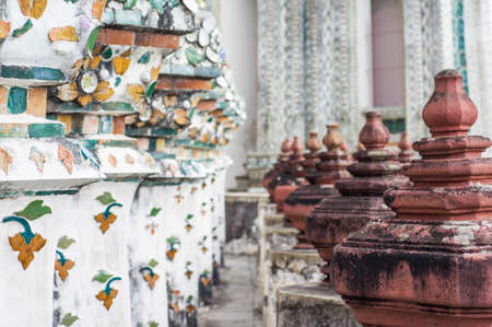wat arun: Archaeological site in Wat arun Stock Photo