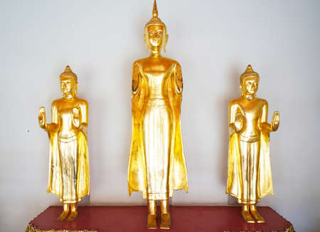 Golden Buddha at Wat pho Bagkok Thailand photo