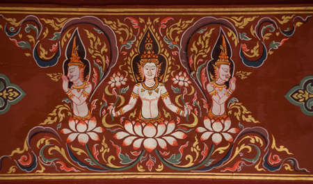 paining in temple Thai style